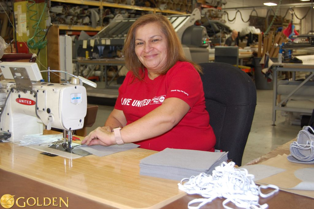 Golden Employee Sews Masks for Geisinger Health System