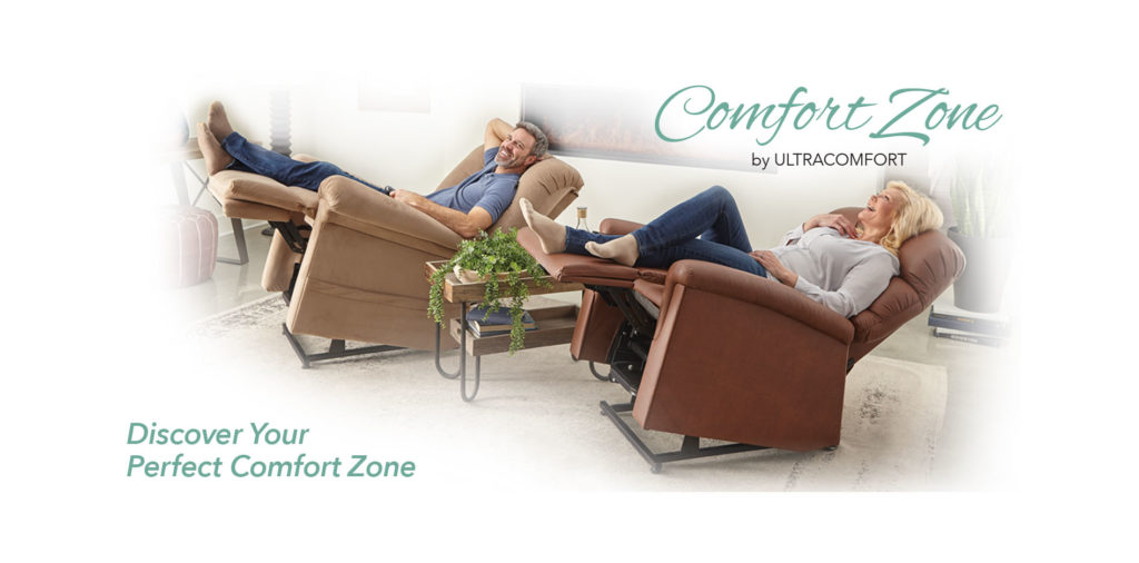 UltraComfort Comfort Zone Power Lift Chair Recliners